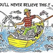Bob Petley Fishing Humorous Postcard
