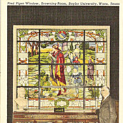Pied Piper Window Baylor University Postcard