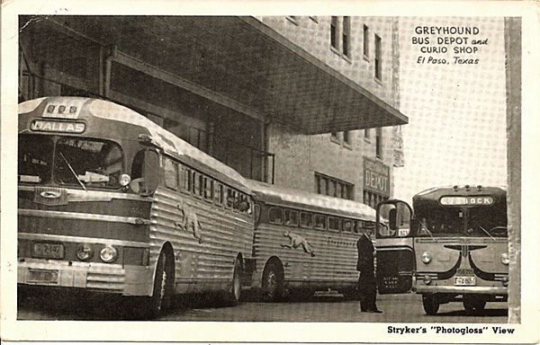 Real Photo Postcard Of Greyhound Bus Depot In El Paso