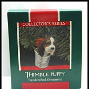 Hallmark Ornament - Thimble Puppy 1989 - Last in Series
