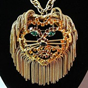 SOLD I'm Too Fancy for My Mane---Lion Necklace