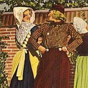 Postcard of Tulip Time Festival in Holland Michigan - Dutch Couple Dancing