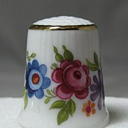 Porcelain Thimble  Adorned with Flowers - Selb Bavaria
