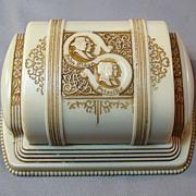 SOLD Vintage Double Wedding Engagement Ring Box - John Alden and Priscilla