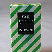 Vintage Ma Griffe by Carven Perfume Bottle - Refill for Untarnishable Gold Handbag Container