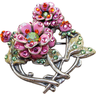 SALE Anne Koplik Flower Pin