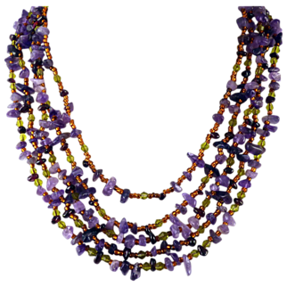 Monet Amethyst Chip Necklace
