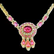 ORA Pink Rhinestone Necklace