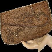 Hilde Walborg Beaded Bird Purse Clutch Bag