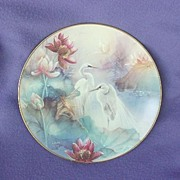 Lena Liu Wings of Snow Egrets Plate