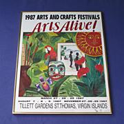 Framed 1987 Arts Alive! Poster Tillett  Gardens, St. Thomas