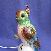 Art Deco Cockatoo Perfume Lamp from Germany