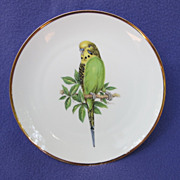 Bareuther Germany Yellow & Green Budgie Plate