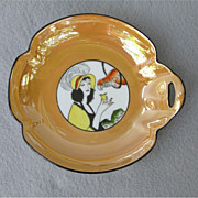 SOLD Art Deco Noritake Lady 'n Parrot Candy Dish