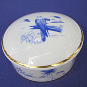 Artoria Limoges Falconry Themed Trinket Box