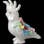 SOLD Crafty Cockatoo Porcelain Pincushion