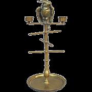Victorian Cockatoo Bobbin Jewelry Pocket Watch Holder Candelabra