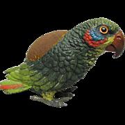 SALE PENDING Vintage Metal Parrot Pincushion Pin Cushion
