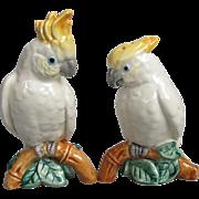 SOLD Fitz and Floyd Sulphur-crested Cockatoo Salt Pepper Set