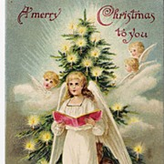 """A Merry Christmas to you"" - Angels - Christmas Tree"