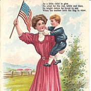 """"""" As a little child in Glee"""" - Patriotic- Mother & Child"""""""
