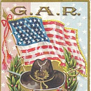 """""""G.A.R , To My Comrade"""" - Flag, Medal, Hat & Gun/Sword crossed"""
