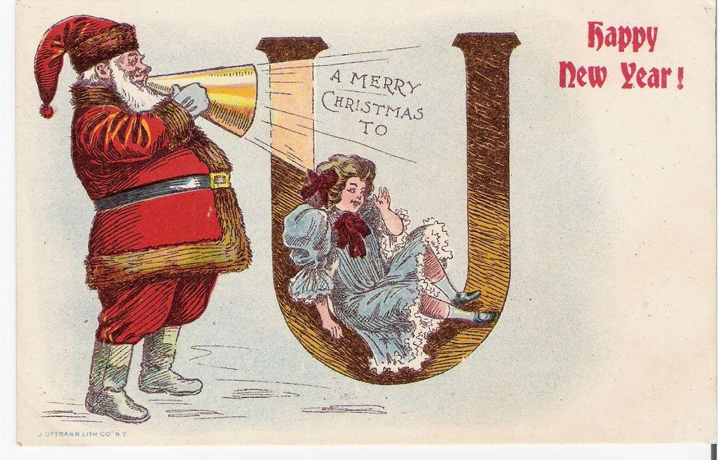 """A Merry Christmas to you"" - Santa Claus - Christmas - Child"
