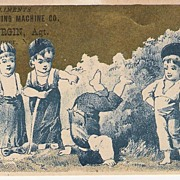 """American Sewing Machine Co.""  - Trade Card"