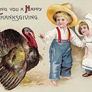 Wishing You A Happy Thanksgiving - Children - Turkey