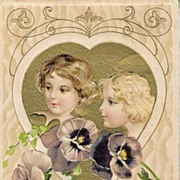 """""""Valentine Thoughts"""" - Copyright 1910 by John Winsch"""