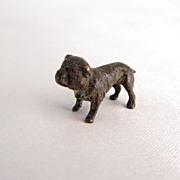 Rare Micro Mini Bronze Bulldog Vintage