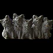 Antique Spelter Kittens/Cats Statue