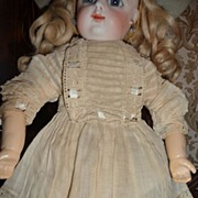 SOLD Gorgeous little antique doll dress with great details