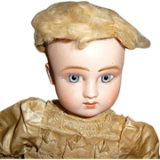 SOLD Antique goat skin wig for early bisque doll