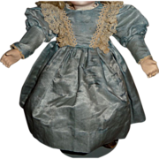 SALE Beautiful small size blue doll dress with lace bretelles