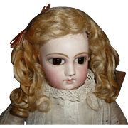 SOLD Gorgeous antique blond mohair doll wig