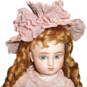 SOLD Gorgeous antique factory made small doll bonnet