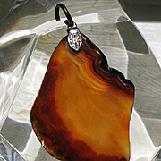 Estonia Baltic amber pendant red and yellow colors ca 1924