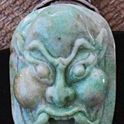 SALE Chinese carved jade belt ornament
