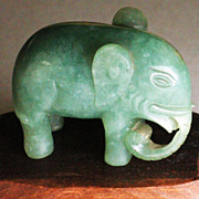 REDUCED Chinese jade elephant