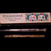Mechanical pencil FOURSOME 4 color in nickel trim w/original box