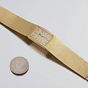 SALE Omega wrist watch 14K Gold integral case and bracelet