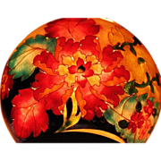 Art Nouveau cloisonne Plique-a-jour bowl with flowers design Russian Japanese techniques