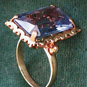 Blue Topaz 14K gold ring size 9.5 sign