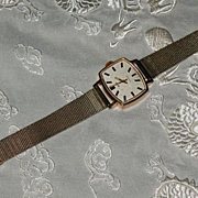 "SALE Russian solid 583 (14 K)GOLD wrist watch ""ЗАРЯ""-""ZARIA"""