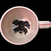 Frog Mug 19th Century Large Staffordshire