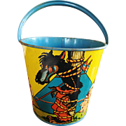 Big Bad Wolf Tin Sand Pail with Little Indian Pigs