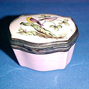 Bilston Battersea Enamel Miniature Trinket Box