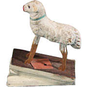 German Putz Sheep Squeak Toy on Bellows