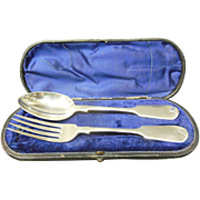 Victorian Sterling Silver Fork and Spoon Set